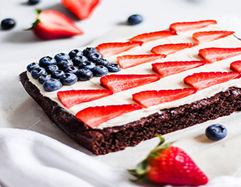 American Flag Brownies made with Almond Flour Baking Mix Brownie Recipe