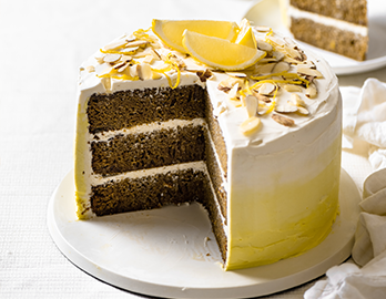 Almond Lemon Ombre Cake made with Almond Flour Baking Mix Vanilla Cupcake & Cake Mix Recipe