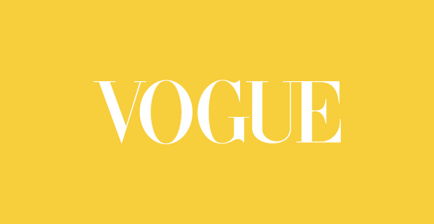 Vogue Logo with white writing on yellow background
