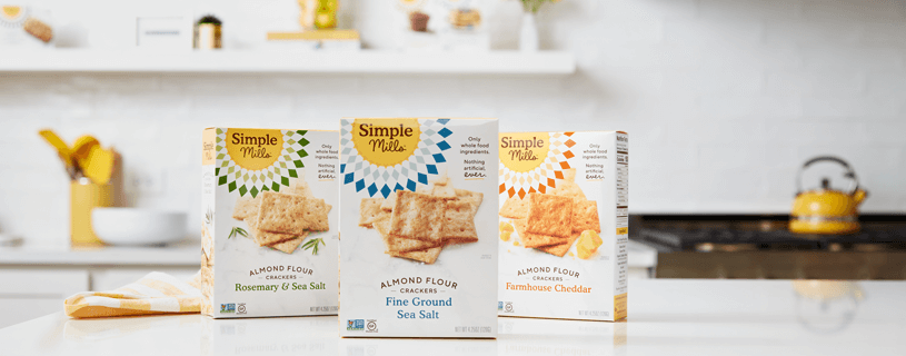 Assorted Boxes in different flavors of Simple Mills Almond Flour Crackers