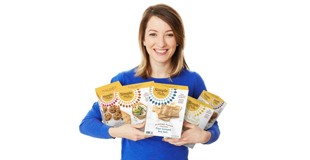 CEO Katlin Holding Boxes of Simple Mills Products