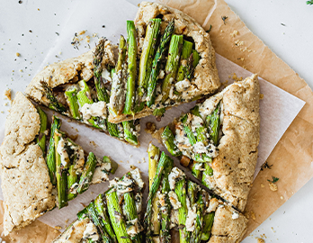 Asparagus Galette made with Almond Flour Baking Mix Artisan Bread Recipe