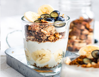Banana Berry Crunch Parfaits made with Almond Flour Baking Mix Banana Muffin & Bread Recipe