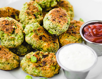 Broccoli Tots with Horseradish Aioli made with Almond Flour Baking Mix Artisan Bread Recipe