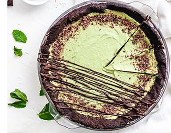 Paleo Chocolate Mint Cream Pie made with Almond Flour Baking Mix Chocolate Muffin & Cake Recipe