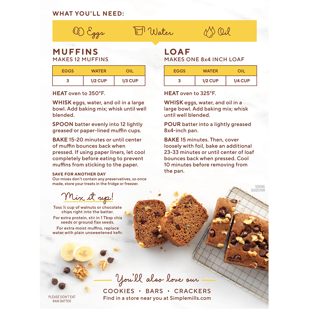 Simplemills Banana Muffin Bread Mix