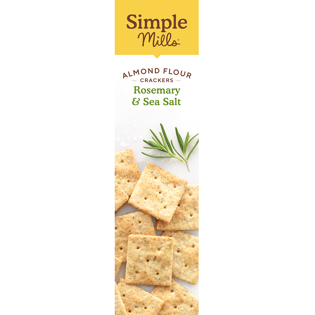 Almond Flour Crackers Rosemary & Sea Salt Box side panel