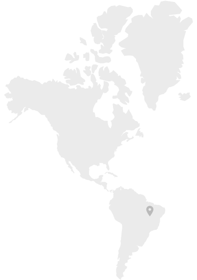Map of South America where Cassava is produced