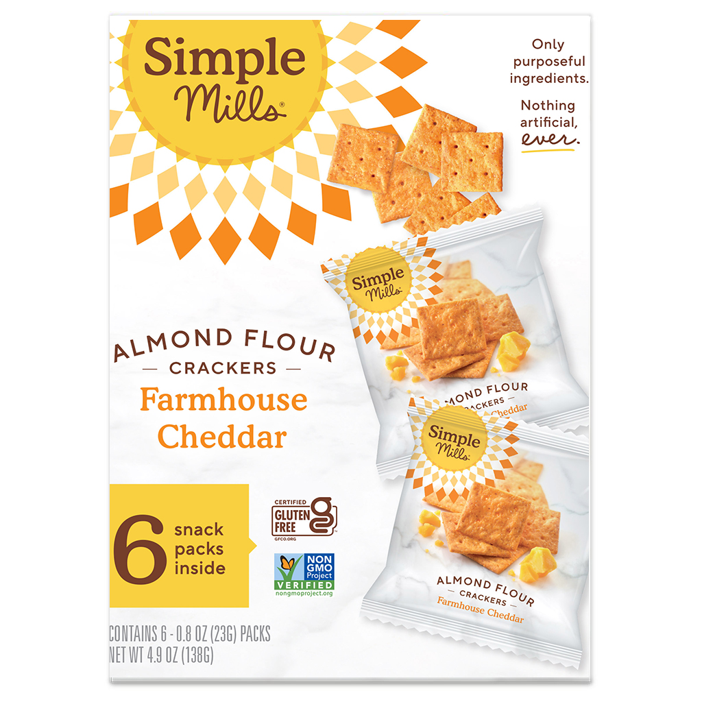 Almond Flour Cracker Snack Pack Farmhouse Cheddar