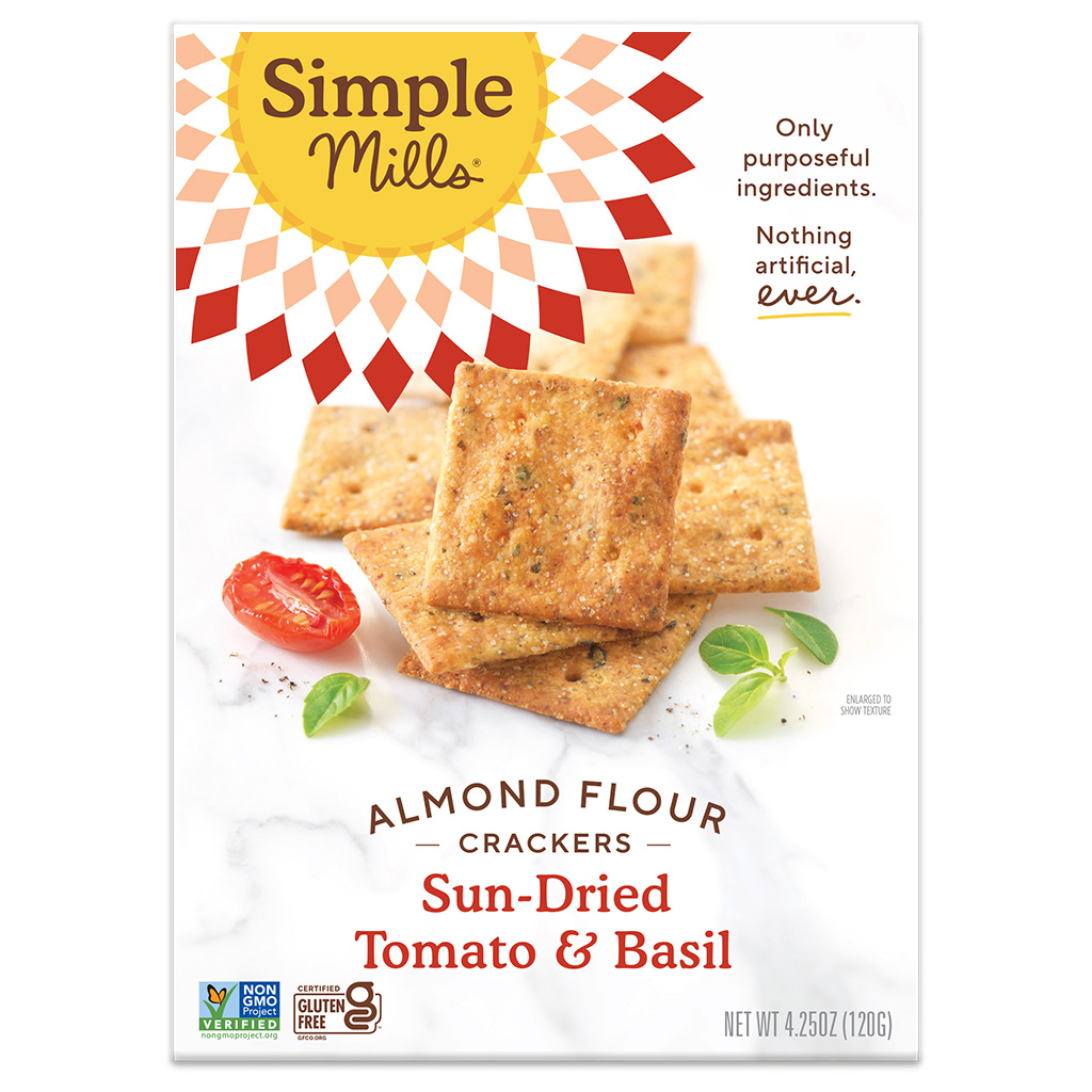 Almond Flour Crackers Sun-dried Tomato & Basil