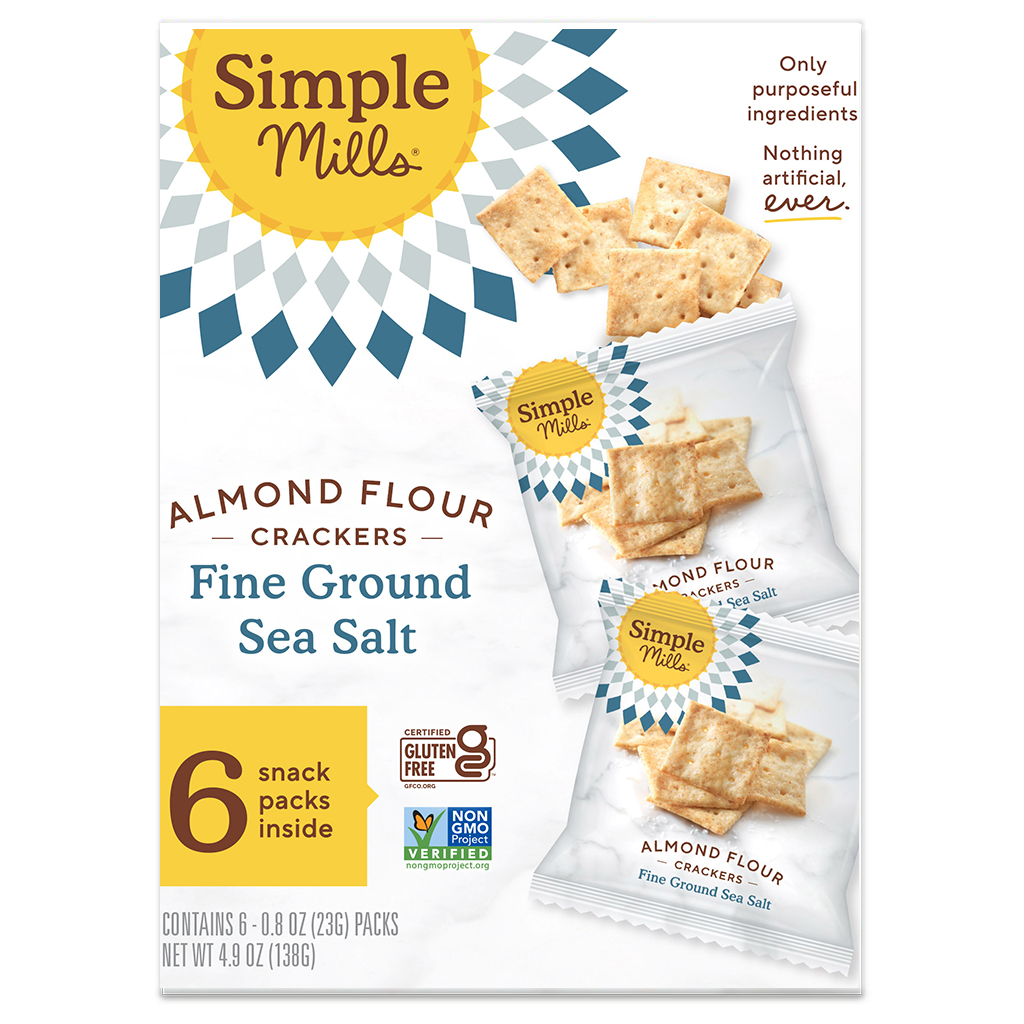 Almond Flour Cracker Snack Pack Fine Ground Sea Salt